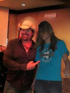 This is me with Toby Keith.