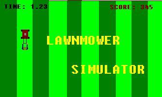 The classic 'Lawnmower Simulator II'