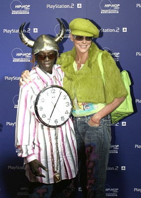 Flavor Flav shown here with a hidden Clock spider. It's there though...trust me.