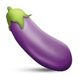 Eggplant emoticon meaning