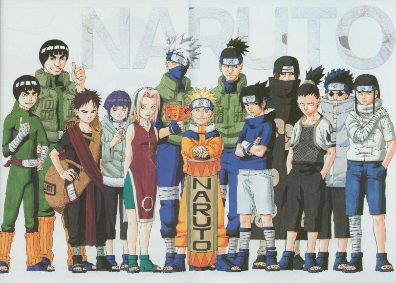 Note: Naruto and the girls and rock lee and his stupid master