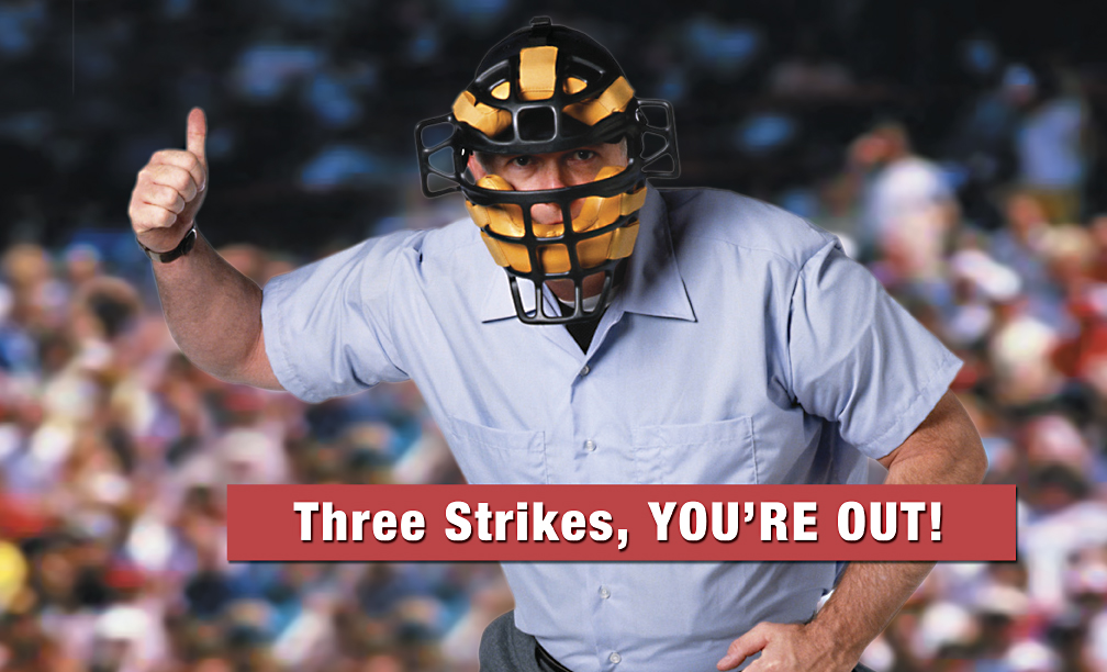 three strike rule Three strikes laws around the country are notorious for being very harsh to repeat offenders the laws have been repeatedly criticized in some states for producing somewhat ridiculously harsh sentences for smaller crimes that are committed as the third strike.