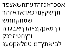 An excerpt from Daisy the Cow scroll 1, and most certainly not random Hebrew characters cack-handedly arranged, oh no.