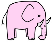 Pink elephant drawing.png