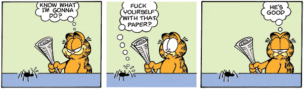 Garfield comic strip you can be replaced