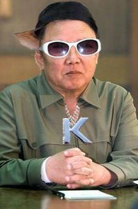 "Kim Jong Il keeping his cool in the pussy call' ""pimp my ride""."