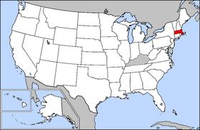 Massachusetts Uncyclopedia The Content Free Encyclopedia - Massachusetts-on-the-us-map