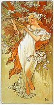 Any excuse to use Alphonse Mucha art, it's culture people