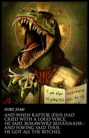 Raptor Jesus - Uncyclopedia, the content-free encyclopedia