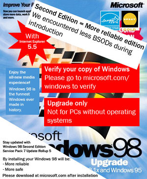 Windows 98 - Uncyclopedia, the content-free encyclopedia
